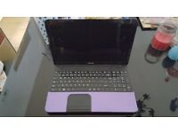 Toshiba Satellite C855 laptop - Purple, brilliant condition.