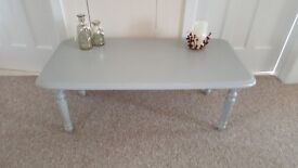 Pine coffee table hand painted in Annie Sloan chalk paint 'Paris Grey'