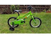 RIDGEBACK MX14 TERRAIN kids bike + stabilizers