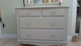 LAURA ASHLEY PROVENCALE CHEST OF DRAWS DOVE GREY