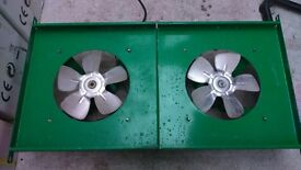 EXTRACTION CIRCULATION FANS 510 CMH 110VOLT WITH TRANSFORMER TWO OFF