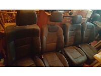 black leather mercedes benz m class seats