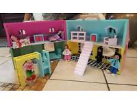 LITTLE WOODEN FOLD AND GO DOLLS HOUSE