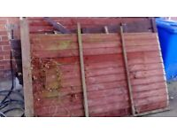 Old wooden fence for free