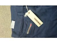 Brand new unworn purple blue Diesel jeans Size 27, low rise stretch super slim