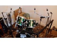 Pearl DR-80 Rack AND Gibraltar cymbal stands
