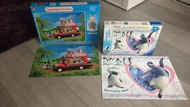 Sylvanian Families Puzzle and Happy Feet Puzzle
