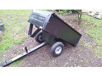 Agri-Fab 45-0303 Garden Ride On Lawn Mower Tipping Trailer Brand New