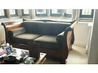 SIMON HORN mahogany sleigh sofa bed
