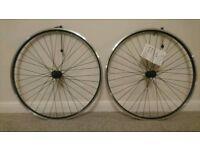NEW- Good quality pair of 700c Road/ hybrid bike wheels/ wheelset. Shimano hubs. 36 spoke.
