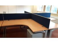 Executive beech office desks ideal for new office fit outs