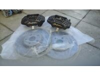 .............TOYOTA SUPRA MKIV UK 4 POT FRONT BRAKE CALIPERS.............
