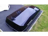 Halfords Exodus 470L Roof Box + Genuine Ford S-Max Roof Bars