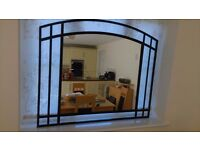 NEXT HOME large wall hanging mirror black surround in VGC Approx 110 x 91 cms