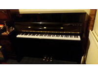 Schimmel Deep Black Lacquer Upright Piano - Wonderful Tone and Excellent Condition