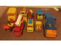 Lot of trucks diggers buses toys