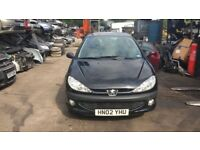 2002 Peugeot 206 Hdi D Turbo 3dr 2.0 Diesel Black BREAKING FOR SPARES