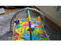 Baby swing moses basket and play gym