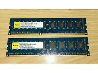 2GB 1XR8 PC3-1060U 1333 PC RAM x 2