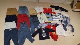 Large bundle boys 3-6months clothes