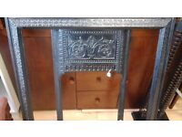 Wrought iron fire surround heavy black good example