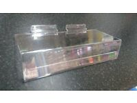 SHOE SHELF WITH TICKET HOLDER 225mm x100mm QTY: 90