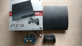 Sony Playstation 3 PS3 with 2 controllers and 30 games