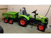 Claas Arion 430 pedal tractor and trailer