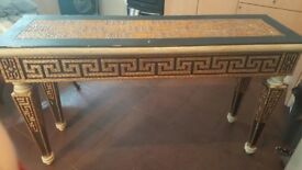 Console Table (Vintage/Shabby Chic ornate gold/black)