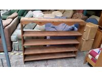 wooden shelving