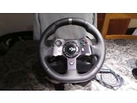 Logitech G920 steering wheel, pedals and gear shift for PC X Box