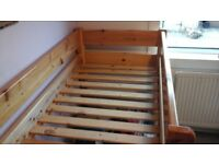 Good quality pine cabin bed for 5-10 yr old
