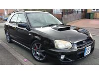 03 SUBARU IMPREZA WRX 2.0 TURBO WAGON BLACK, 2 OWNERS, FSH, AWD, MOT, HPI CLEAR, 2 KEYS, FAST £2250