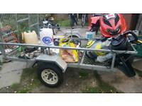 trailer with ramp bed size 5ftx8ft