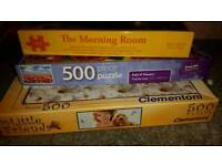 3x boxes jigsaw puzzles