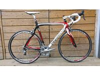 Pinarello FP Quattro Carbon Road Racing Bike / Bicycle 56cm Shimano Ultegra Fulcrum 3 Wheels Arione