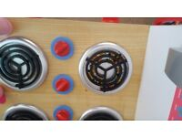 Bundle of toy food / ELC shopping basket / toy kitchen