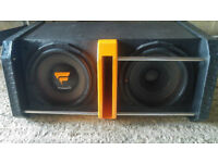 Fuel Shockwave Subwoofer 2x Speakers + box