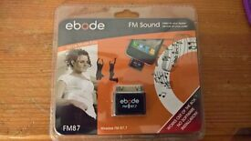 2 x Ebode FM87 Wireless Devices- Listen to your Apple Device on your Radio.