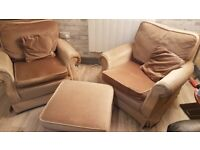 FREE Two armchairs and foot stool