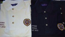 Heart of Midlothian polo shirts x2 size large