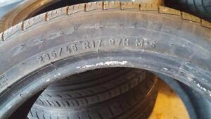 235/45R17 Pirelli p7  all season 11/32 like new