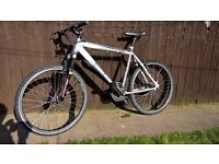 27 speed claude butler cape wrath cycle lightweight silver alloy mountain bike with suspension