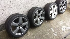 Golf audi vw rs6 alloy wheels 5x112 £200