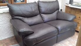 Brown leater sofa