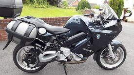 BMW F800ST (F800 ST) with full luggage including BMW sport expanding panniers