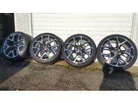 Vauxhall Genuine VXR 20 '' alloy wheels + 4 x tyres 245 35 20 Astra Zafira
