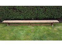 Retro school Gym balance bench