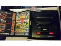 Sega megadrive II boxed with 6 games.