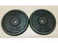 Domyos 10Kg x 2 cast iron weight plates PLZ READ NO OFFERS